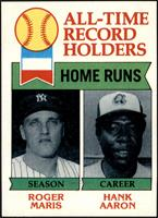 All-Time Record Holders - Home Runs - Hank Aaron, Roger Maris [NM]