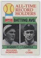 All-Time Record Holders - Batting Average - Rogers Hornsby, Ty Cobb [Good …