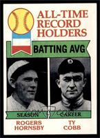 Rogers Hornsby, Ty Cobb [NM]