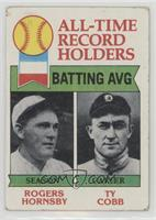 Rogers Hornsby, Ty Cobb [Good to VG‑EX]