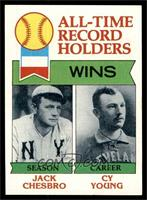 All-Time Record Holders - Wins - Cy Young, Jack Chesbro [EX MT]