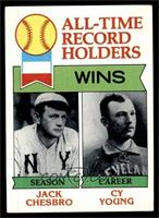 All-Time Record Holders - Wins - Cy Young, Jack Chesbro [VG EX]