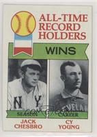 All-Time Record Holders - Wins - Cy Young, Jack Chesbro [Poor to Fair]