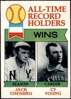 All-Time Record Holders - Wins - Cy Young, Jack Chesbro [NM MT]