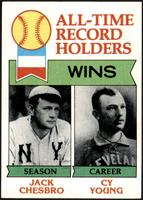 All-Time Record Holders - Wins - Cy Young, Jack Chesbro [NM]