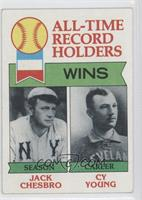 All-Time Record Holders - Wins - Cy Young, Jack Chesbro [Good to VG&#…