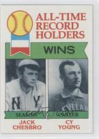 All-Time Record Holders - Wins - Cy Young, Jack Chesbro