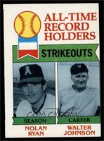 All-Time Record Holders Strikeouts (Nolan Ryan, Walter Johnson) [GOOD]