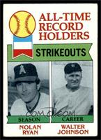 All-Time Record Holders Strikeouts (Nolan Ryan, Walter Johnson) [FAIR]