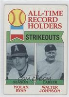 All-Time Record Holders Strikeouts (Nolan Ryan, Walter Johnson) [Good to&n…