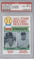 All-Time Record Holders Strikeouts (Nolan Ryan, Walter Johnson) [PSA 8]