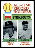All-Time Record Holders Strikeouts (Nolan Ryan, Walter Johnson) [VG]