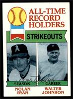 All-Time Record Holders Strikeouts (Nolan Ryan, Walter Johnson) [EX MT]