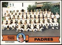 San Diego Padres Team Checklist (Roger Craig) [NM+]