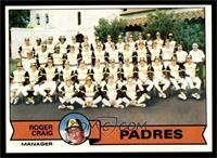 San Diego Padres Team Checklist (Roger Craig) [EX]