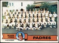San Diego Padres Team Checklist (Roger Craig) [VGEX]
