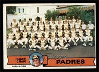San Diego Padres Team Checklist (Roger Craig) [VG]