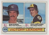 Ron Guidry, Gaylord Perry [Poor to Fair]
