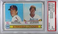 Strikeout Leaders (Nolan Ryan, J.R. Richard) [PSA9MINT]