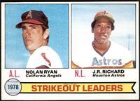 Strikeout Leaders (Nolan Ryan, J.R. Richard) [EXMT]