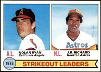 Strikeout Leaders (Nolan Ryan, J.R. Richard) [NM+]