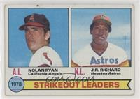 Strikeout Leaders (Nolan Ryan, J.R. Richard) [Poor to Fair]
