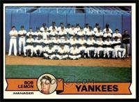 New York Yankees Team Checklist (Bob Lemon) [EXMT]