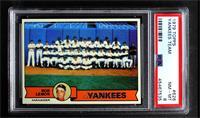 New York Yankees Team Checklist (Bob Lemon) [PSA8NM‑MT]