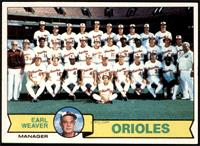 Baltimore Orioles Team, Earl Weaver [NM+]