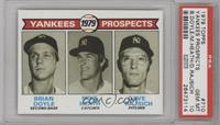Yankees Prospects (Brian Doyle, Mike Heath, Dave Rajsich) [PSA 10]