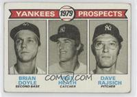 Yankees Prospects (Brian Doyle, Mike Heath, Dave Rajsich) [Good to VG…