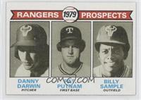 Rangers Prospects (Danny Darwin, Pat Putnam, Bill Sample)