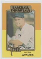 Lou Gehrig (MLB Logo)