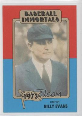 1980-87 SSPC Baseball Immortals - [Base] #136 - Bill Evers