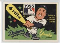 Brooklyn Dodgers vs. New York Yankees (Duke Snider) (cubs sticker on back)