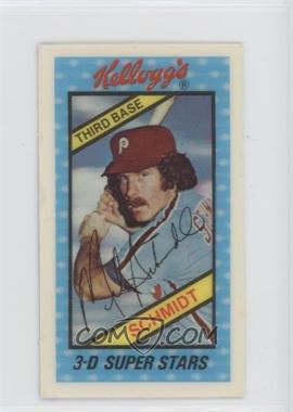 1980 Kellogg's 3-D Super Stars - [Base] #2 - Mike Schmidt