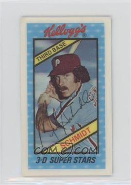 1980 Kellogg's 3-D Super Stars - [Base] #2 - Mike Schmidt - Courtesy of COMC.com