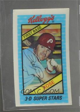 1980 Kelloggs 3 D Super Stars Base 35 Pete Rose