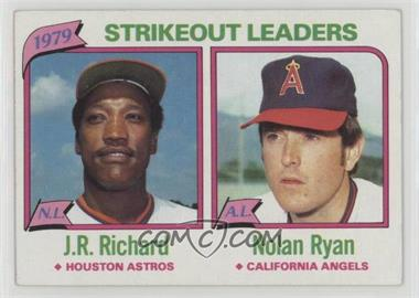 1980 Topps - [Base] #206 - J.R. Richard, Nolan Ryan [Good to VG‑EX]