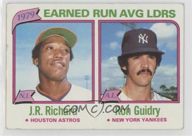 1980 Topps - [Base] #207 - J.R. Richard, Ron Guidry [GoodtoVG‑EX]