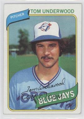 1980 Topps - [Base] #324 - Tom Underwood
