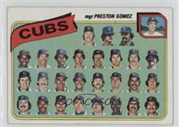 Chicago Cubs Team Checklist (mgr Preston Gomez) [GoodtoVG‑EX]
