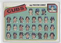 Chicago Cubs Team Checklist (mgr Preston Gomez) [PoortoFair]