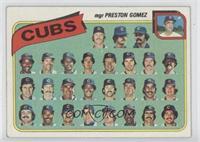 Chicago Cubs Team Checklist (mgr Preston Gomez)