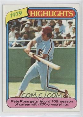 1980 Topps - [Base] #4 - Pete Rose