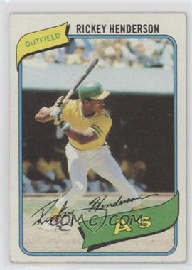 1980 Topps - [Base] #482 - Rickey Henderson [GoodtoVG‑EX]