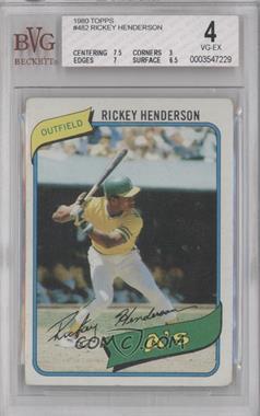 1980 Topps - [Base] #482 - Rickey Henderson [BVG4]