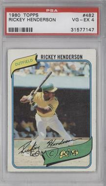 1980 Topps - [Base] #482 - Rickey Henderson [PSA4]