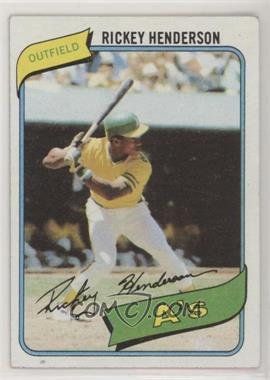 1980 Topps - [Base] #482 - Rickey Henderson