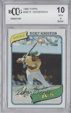 1980 Topps - [Base] #482 - Rickey Henderson [ENCASED]